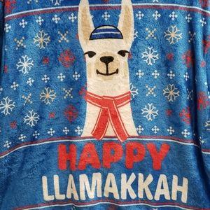 Happy Llamakkah Fleece Pullover
